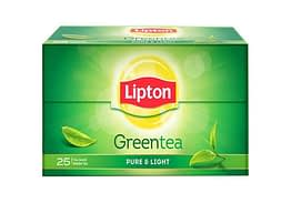 Lipton Pure Light Green Tea Bags 25p