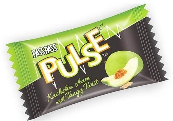 PULSE PASS PASS TANGY TWIST KACHA AAM Candy 200g 3