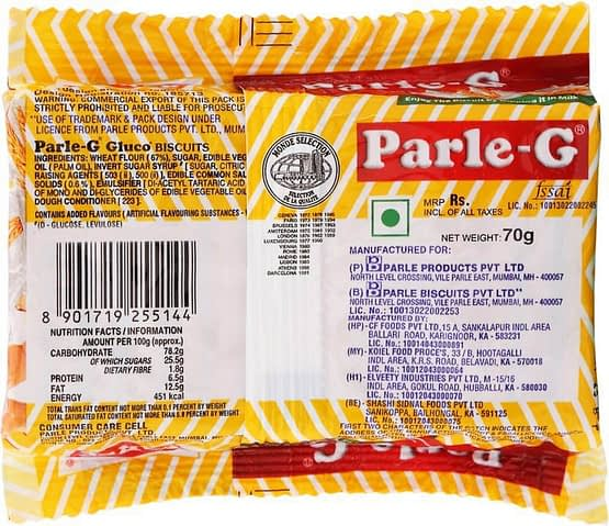 Parle G Gluco Biscuits 70g 2