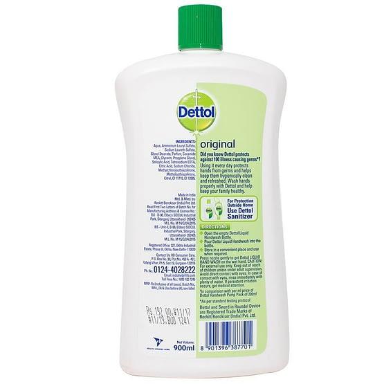 Dettol Original Liquid Hand Wash 900ml 3