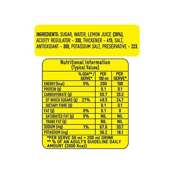 Kissan Lemon Squash 750ml 4