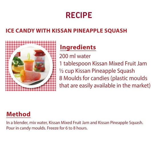 Kissan Pineapple Squash 750ml