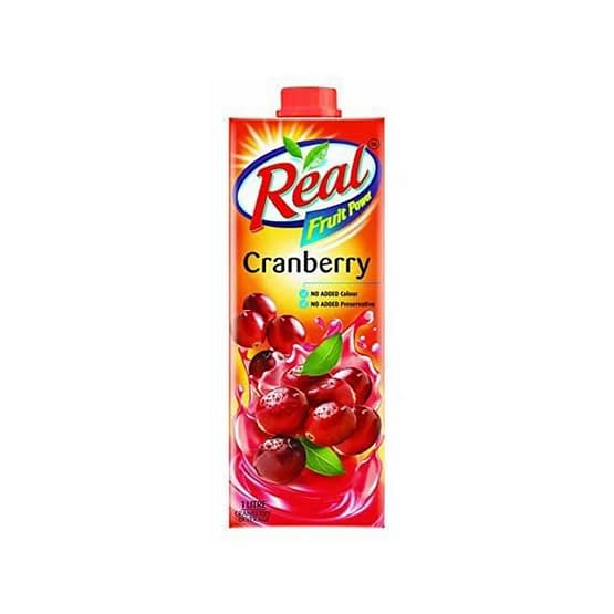Real Fruit Power Cranberry Juice 1ltr