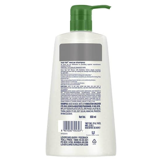 Dove Hair Fall Rescue Shampoo 650ml 2