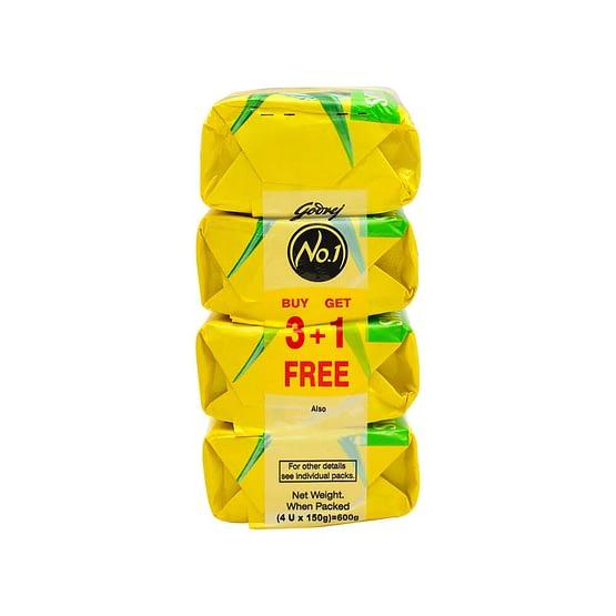 Godrej No.1 Lime Aloe Vera Soap 4x150g 2