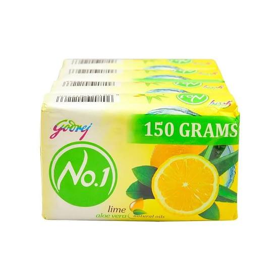 Godrej No.1 Lime Aloe Vera Soap 4x150g 3 3