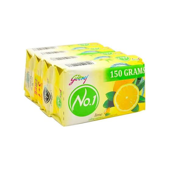 Godrej No.1 Lime Aloe Vera Soap 4x150g 4 4
