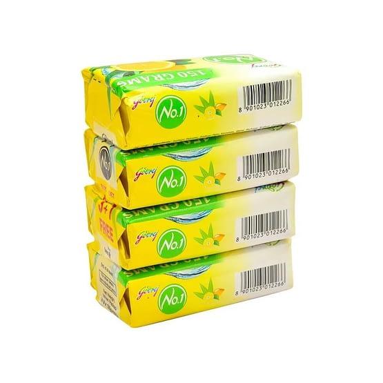 Godrej No.1 Lime Aloe Vera Soap 4x150g