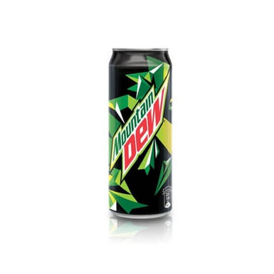 Mountain Dew Soft Drink can
