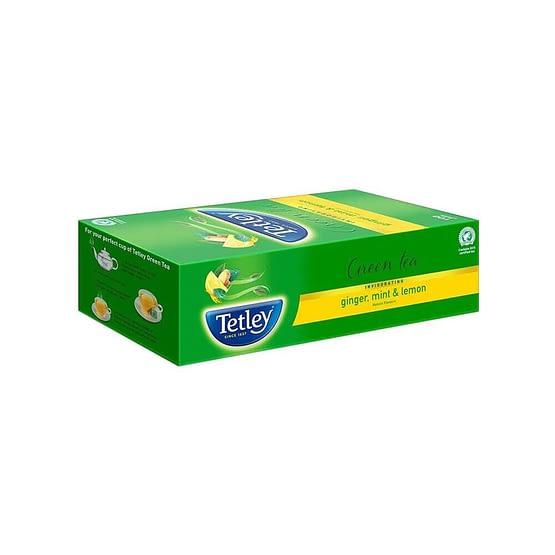 Tetley Ginger Mint Lemon Green Tea Bags 25p 5