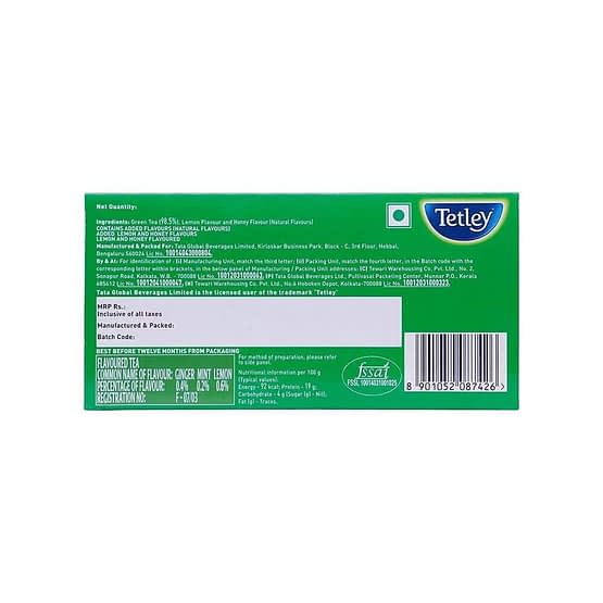 Tetley Ginger Mint Lemon Green Tea Bags 25p