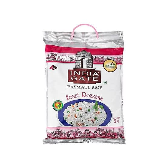 India Gate Feast Rozzana Basmati Rice 5kg