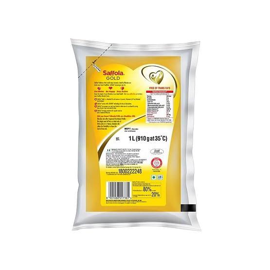 Saffola Gold Edible Oil 1L 2