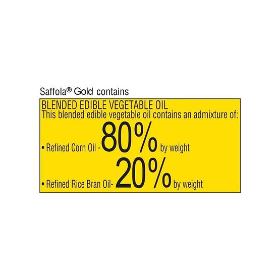 Saffola Gold Edible Oil 1L 4