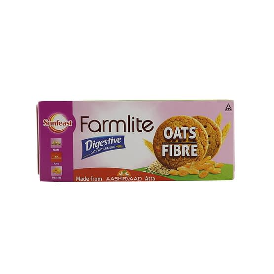 Sunfeast Farmlite Oats With Almonds Digestive Biscuits 75g